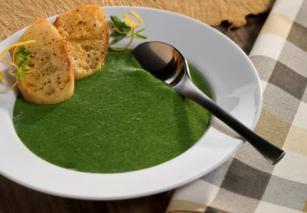 Supë spinaq & bizele
