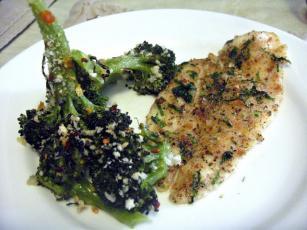 Peshk me Brokoli dhe Spinaq