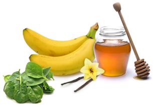 Spinaq, banane, mjalt